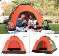 Popular 2 Room 3 windows Family Hiking Camping Tent Pop Up Portable Folding Outdoor Travel Tents