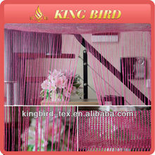 2013 new design elegant wholesale 100%polyester organza with line curtains