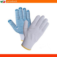 PVC Dotted Cotton Knitted gloves safety working gloves anti slip gloves