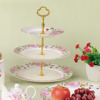 STLN00 Ceramic porcelain cake stand 3 tiers fruit plate wholesale