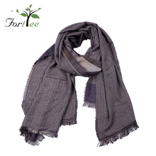 Scarves fashionable design winter neckwear custom men cashmere scarf plaid