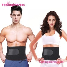 High Quality Black Adjustable Form Fit Waist Trimmer Belt