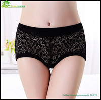 Soild Color Sexy Lace Lady Women Underwear Panty Bamboo Boyshort