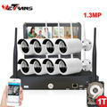 10.1inch Display 960P 8 Channel 20m IR Night Vision Outdoor Video Surveillance Wifi NVR Kits IPK8108B-W