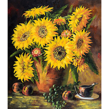 New arrival sun flower modern art oil painting picture