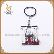 Eco-friendly Letters M metal keyring