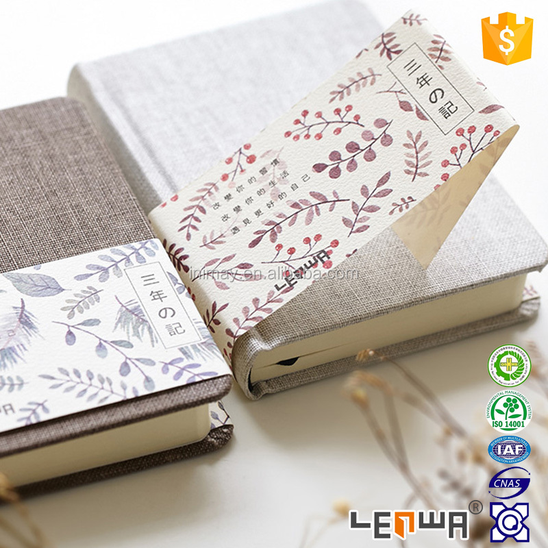 Linen Cover 3 year Diary Eco Friendly Notebook