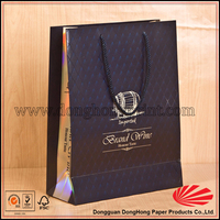 Fast delivery free sample brown custom made paper wine bag