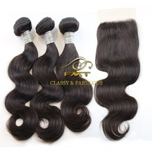 Top quality cheap unprocessed remy virgin Malaysian hair extensions, natural hair bundles with closure