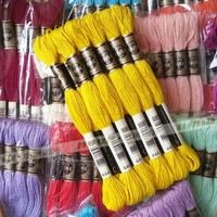 wholesale Golden Rose cross stitch thread embroidery thread with 100% cotton 447 DMC color can be choose