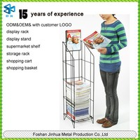 retail wire metal powder coated magazine/book/card racks display stands