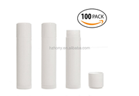 Empty Lip Balm Tubes, Empty Lip Balm Containers BPA Free - White 100 Count