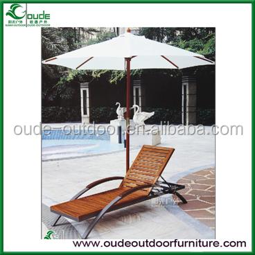 Zwembad tuin outdoor houten lounge stoel klapstoelen product id 1879767287 - Houten strand zwembad ...