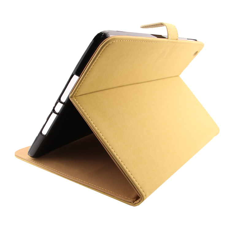 Multifunction genuine Leather Slim stand smart tablet laptop case for Ipad air ipad 5