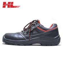 New fashionable genuine leather black steel safety shoes low price