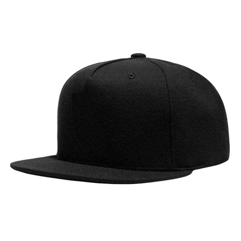 Wholesale Original High Quality Black Cotton Snapback Cap For Cheap