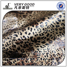 100% polyester luxury KS Elastic Leopard printing knitted garment fabric