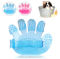 High Quality Pet Accessories Pet Shower Cleaning Massage Comb Dog Hair Brush Dog Bathing Brush Pets Grooming 2 Colors X04