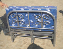 latest designs cheap price heavy duty iron folding bed dubai