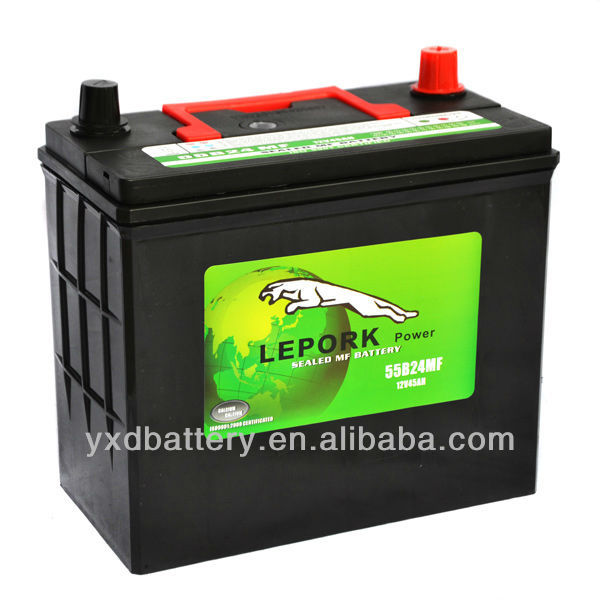 Auto Hight Quility MF car battery 12V 55B24R 50AH