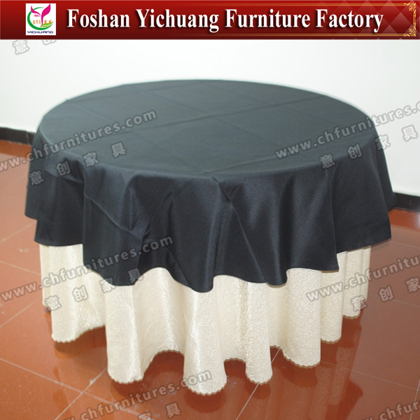 Special Best Selling Fancy Wedding Table Cloth Overlay YC-805-03