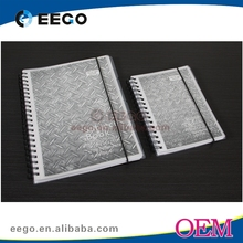 A4 Elastic strap clear plastic pp notebook imported from china