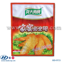 high quality plastic food packaging bag for chicken wing with artistic printing