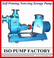 ZW series electric self priming trash pump
