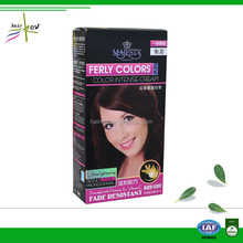 Ammonia free hair color brands made in Chian hair dye factory