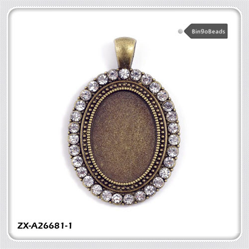 Wholesale charm setting oval online buy best charm setting oval cabochon base antique bronze strongovalstrong cabochon strong aloadofball Images