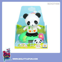 solar powered cartoon panda plastic toy