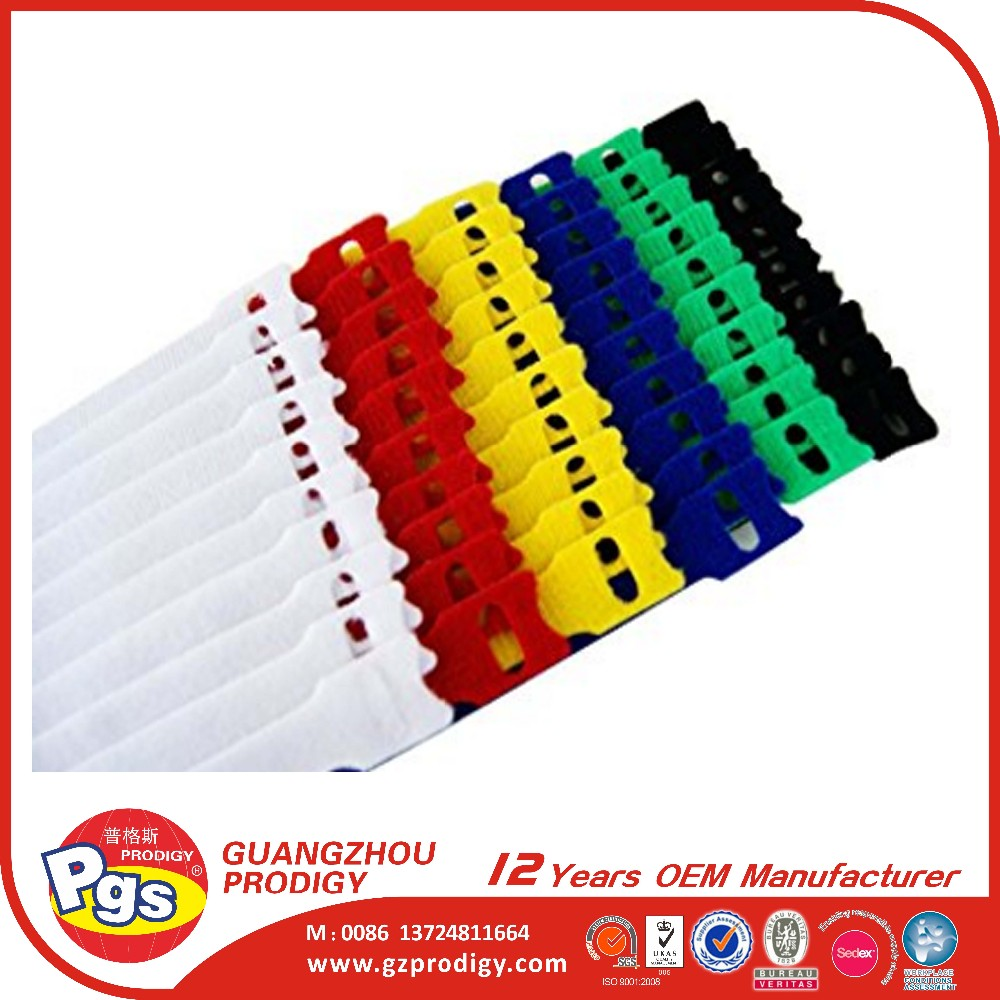multi color cable tie adhesive hook and loop tapes