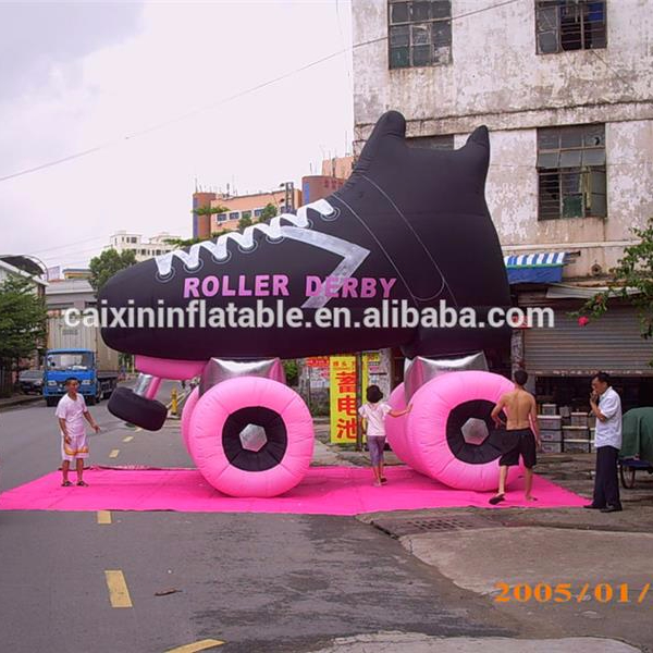 4m High Replica Customized Inflatable Shoes Giant Advertising Inflatable Roller Skate
