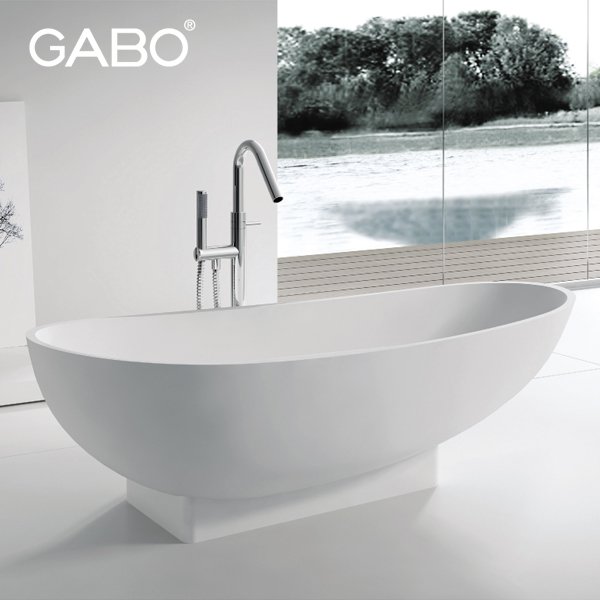 Artificial Stone Bathtub/2 Person Solid Surface Tub