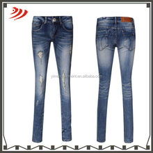 damaqed jeans embroidery back pockets