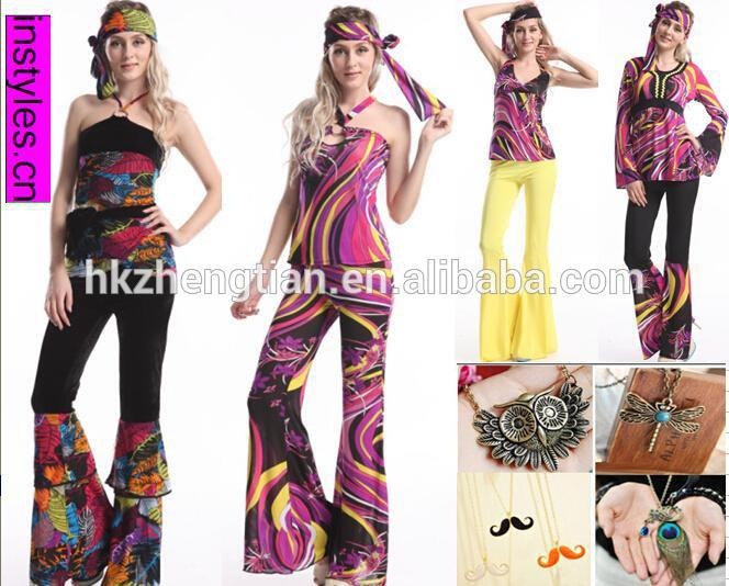 Instyles walson RETRO 60S 70S HIPPY HIPPIE FANCY DRESS COSTUME 1960S 1970S LADIES WOMENS