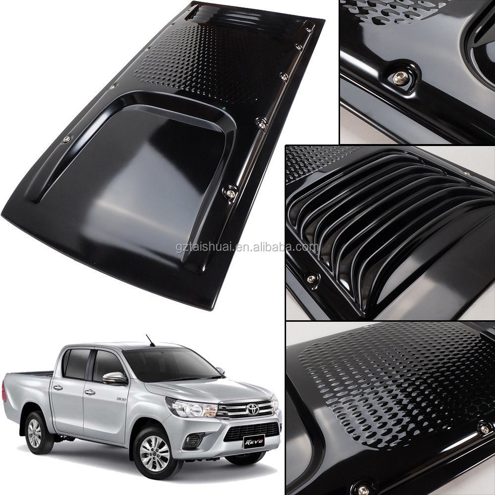 New arrival car body kit abs vent simulation bonnet scoop 4X4 auto accessories hilux revo front engine cover