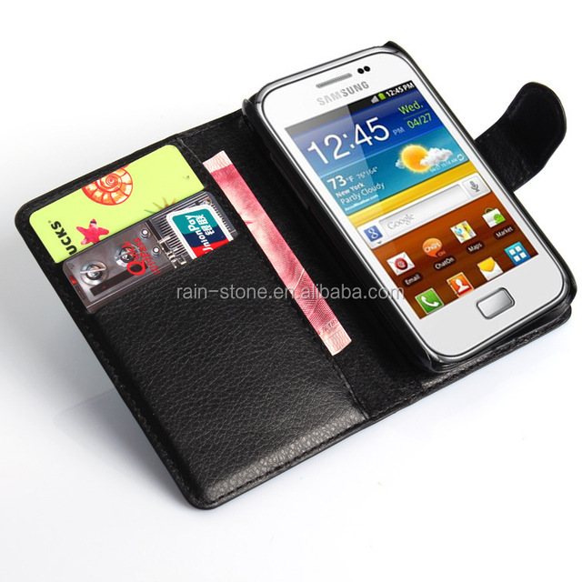 Leather flip cover for samsung galaxy ace plus s7500 case