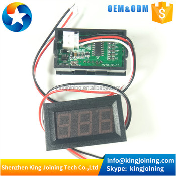 "KJ241 3 colors LED Display Color red green blue 0.56"" Digital Voltmeter DC:0-100V Three wires 3 bit Voltage Panel Meter"