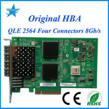 Qlogic QLE2564 8GB Fibre Channel to PCI-E x8 Host Bus Adapter 4-Port HBA card