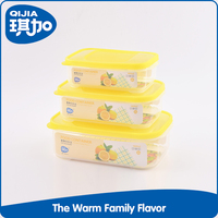 Non toxic microwave safe plastic food container set for kitchen gift
