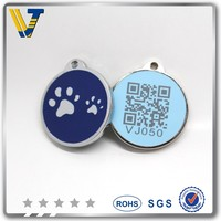 Wholesale soft enamel qr pet tag with ID pet tag