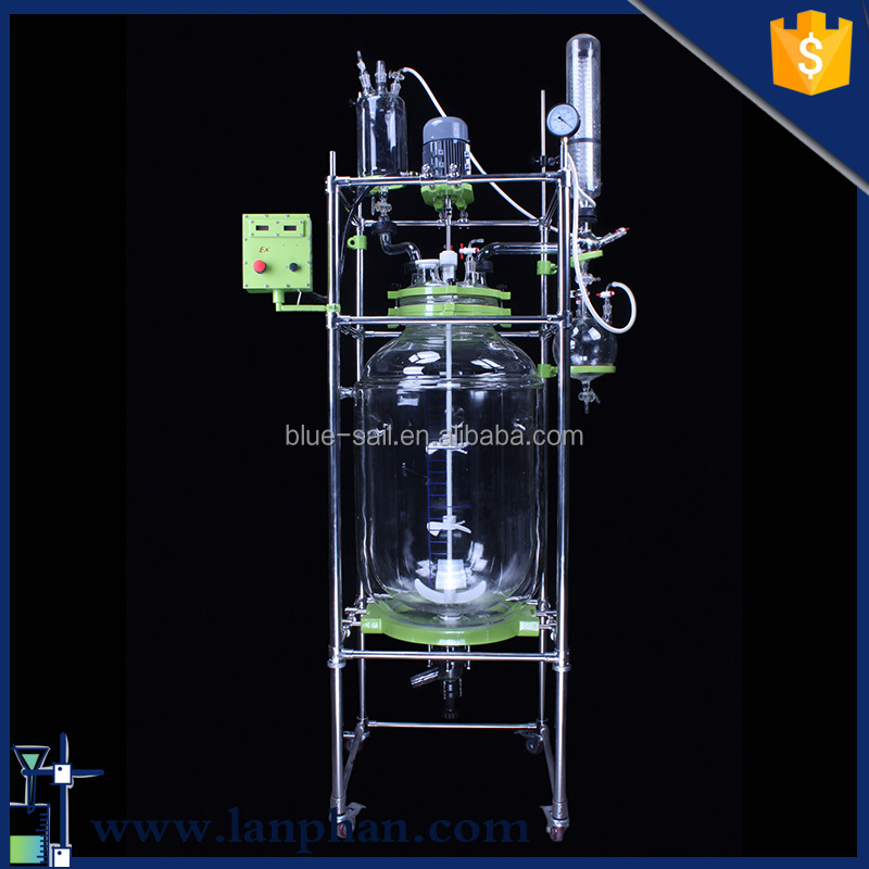 Cheap Price Reaction Kettle with Two Layer Glass