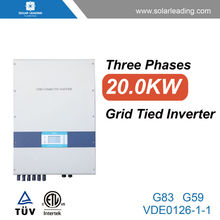 New generation 20000w ac frequency inverter converter 50hz 60hz with 250w solar modules pv panel for grid tied solar system