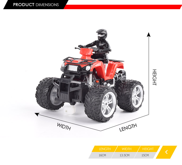 360 degree flexible rotation 4ch 4 wheels plastic motorcycle rc for easy control
