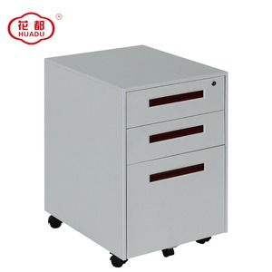 Modern new design cheap pedestal with wheels movable file 3 drawer steel cabinet