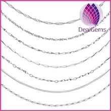 Various 925 sterling silver chain wholesale unfinished chain for jewelry making