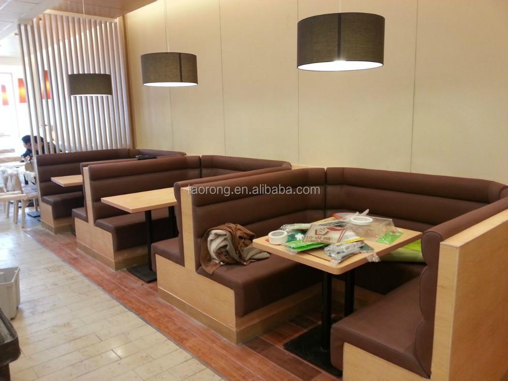 Elegant U Style Design Restaurant Booth Seating TRSO 837