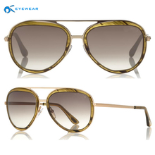 Famous brand aviator style sunglasses 2016