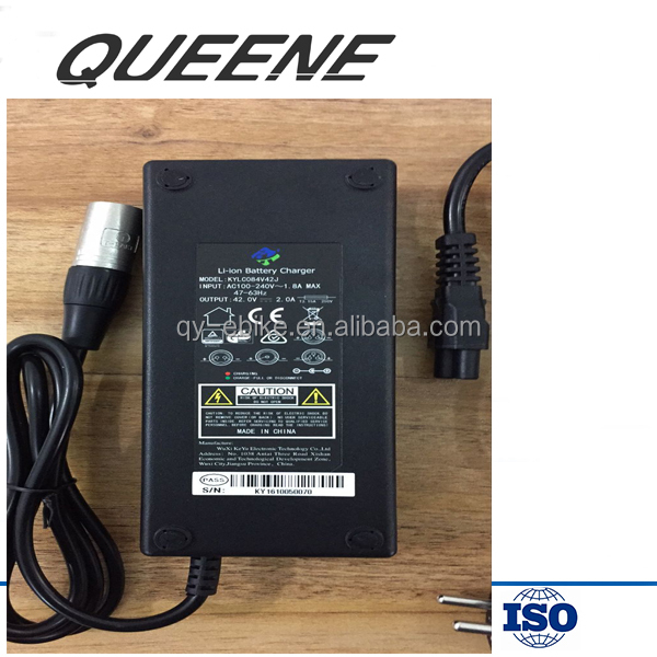 QUEENE/OEM smart 36v 48v electric bike battery charger for ebike or scooter